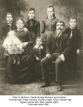 Peter Mulherin Family 1888
